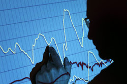 An der Börse geht es auf und ab - Aktienhandel erfordert Geduld.