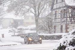 Bei dem Wetter sollten Winterreifen schon montiert sein.