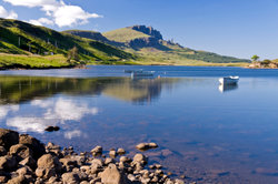 Das schöne Wetter kann in Schottland schnell umschlagen.