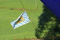 Die Bayerische Flagge ist international bekannt.
