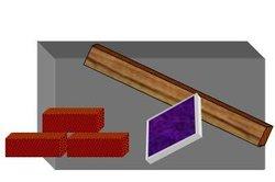 Fliesen, Holz, Stein und Backstein sind antike und moderne Baustoffe.