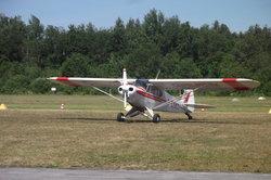 Klassischer Propeller am Kleinflugzeug.
