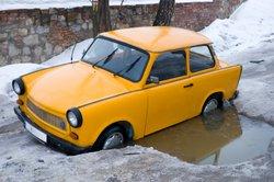 Trabbi und Wartburg waren die einzigen in der DDR produzierten Fahrzeuge.