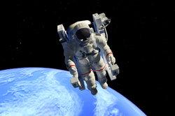 Ein Astronaut führt verschiedene Arbeiten im Weltraum aus.