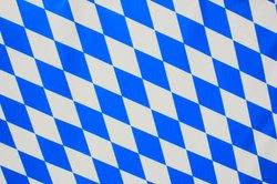 Parallelogramme in einer Flagge.