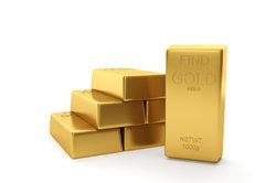 Gold-Barren werden mit Hersteller und Feingehalt gekennzeichnet.