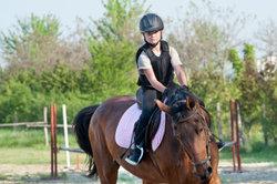 Auch kleine Reiter können zur Dressurreiterprüfung antreten.