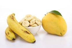 Bananen sind gesund für den Hund.
