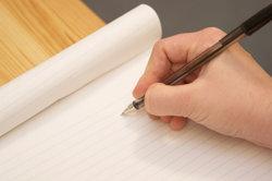 Bringen Sie Ihre Handschrift zunächst auf Papier.