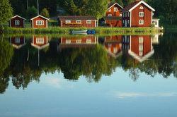 Eine Karte der Provinz Smaland in Schweden ist leicht erstellt.