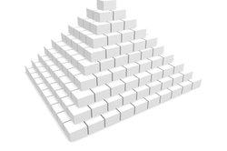 Maslows Bedürfnismodell wurde als Pyramide ausgelegt.