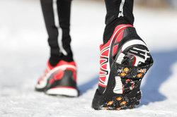 Das Schuhwerk ist wichtig beim Sport.
