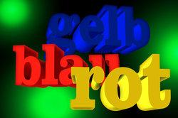Farben können nach Dreifarbentheorie dargestellt werden.