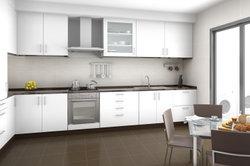 Beschichtetes Schrankpapier kommt auch in der Küche zum Einsatz.