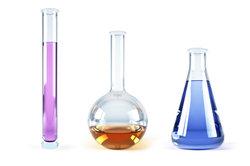 Kalilauge und Phosphorsäure gehen eine Säure-Base-Reaktion ein.