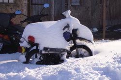 Das große Dreirad im Winterschlaf