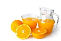 Fruchtsaft ist gesund.