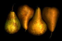 Birnen gibt es in verschiedenen Sorten.