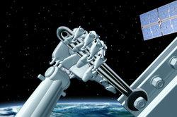 Die Raumstation kreist um die Erde