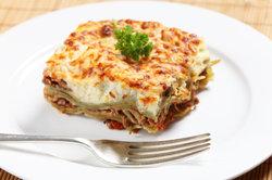 Machen Sie Ihre eigene Lasagne.
