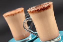 Heiße Schokolade wärmt schön von innen.