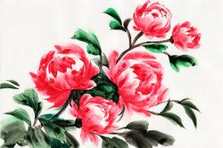 Mithilfe der One-Stroke-Technik gelingen tolle florale Motive.