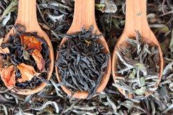 Teesorten gibt es in reicher Auswahl.