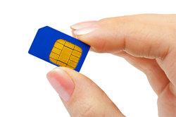 SIM-Karten sind in verschiedenen Größen erhältlich.
