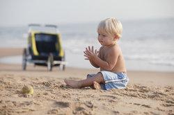 Fahrradanhänger und Jogger für Kleinkinder sind sehr praktisch.