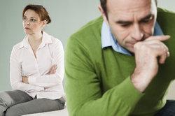 Scheidung beinhaltet Aufteilung der Vermögenswerte.
