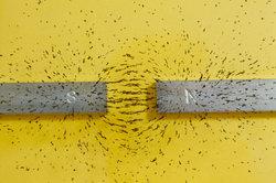 Meistens besteht ein Magnet aus Eisen.