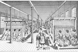 Die Dampfmaschine und der automatische Webstuhl als Zugpferd der industriellen Revolution