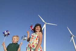 Eine Windkraftanlage zur Ernergiegewinnung