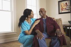 Die ambulante Pflege wird bei Patienten zu Hause durchgeführt.
