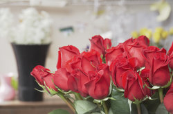 Das Feiern der Rosenhochzeit, geschieht nach einem Jahrzehnt Ehe.