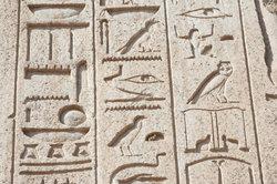So sehen Ägyptische Schriftzeichen aus.