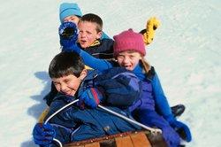 Kinder erleiden leichter Erfrierungen als Erwachsene.