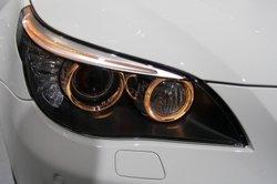 Tolle Scheinwerfer gehören zu einem 5er-BMW einfach dazu.