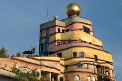 Das Hundertwasser-Haus in Darmstadt.