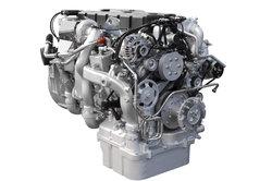 Älterer Dieselmotor mit einer Verteiler-Einspritzpumpe
