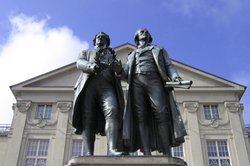 Goethe und sein langjähriger Freund Schiller, die beide viele Balladen schrieben
