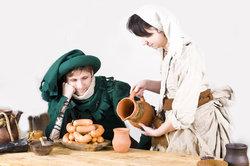 Ein höriger Bauer - auch dessen Ehefrau war dem Grundherrn unterstellt.