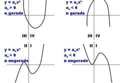 Es gibt nur 4 Möglichkeiten für das Verhalten der Graphen.
