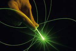 Das Licht eines Lasers ist kohärent.