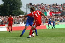 Bei der Heim-WM 2006 hatte der DFB ein rotes Ausweichtrikot