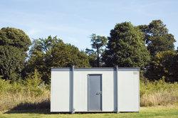 Ein Wohncontainer kann nicht überall aufgestellt werden.