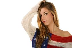 Die amerikanischen Lieblings-Modefarben sind Blau, Rot und Weiß.