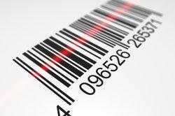 Strichcodes werden mittels eines Lasers gelesen.