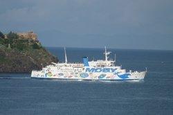 Die Moby Fähre vor Elba