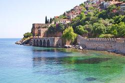 Alanya, eine schöne Stadt an der türkischen Riviera.